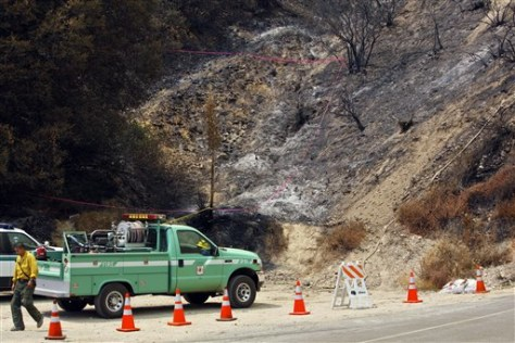 Image: Site where L.A. fire started