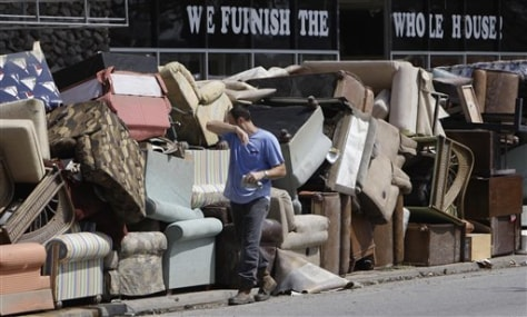 Image: Storm-damaged furniture