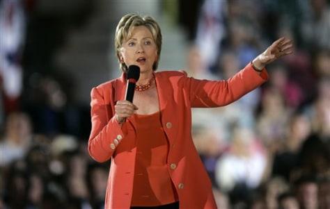 IMAGE: U.S. Sen. Hillary Rodham Clinton, D-N.Y.