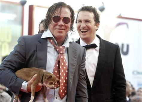 Image: Mickey Rourke and Loki