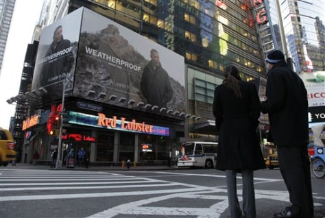 Image: Barack Obama in Times Square ad