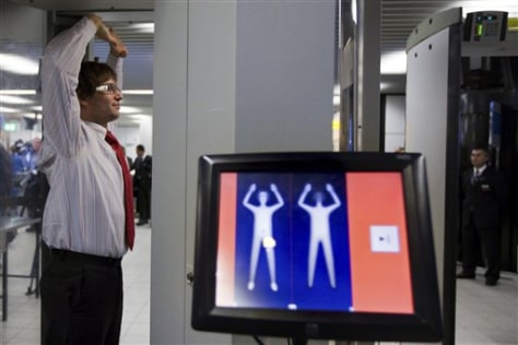 Image: Body scanner at Dutch airport