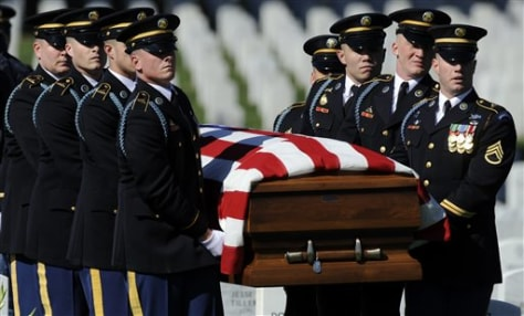 Image: Army funeral of Stephen Mace