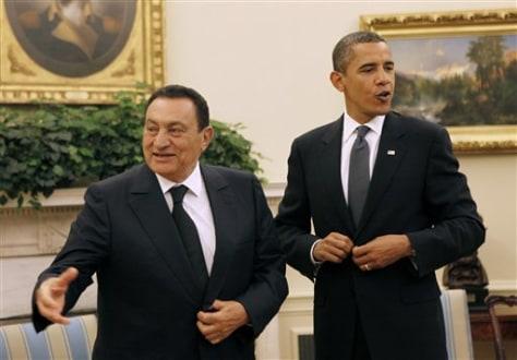 Image: Obama, Mubarak