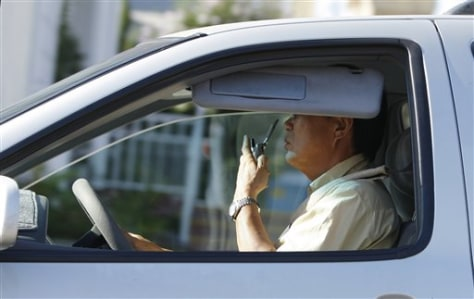 Image: California man driving with cell phone