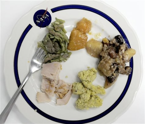 Image: Thanksgiving meal for astronauts