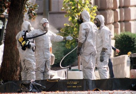 Image: Hazmat unit searches for anthrax