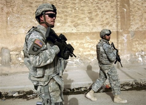 Image: U.S. troops on patrol in Mosul, Iraq