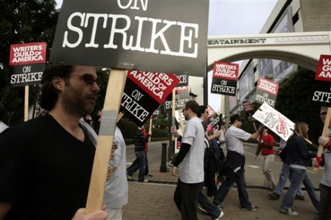 Image: Hollywood writers on picket line