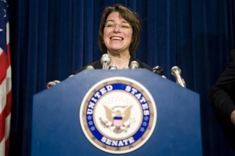 Image: Senator Amy Klobuchar, D-Minn.