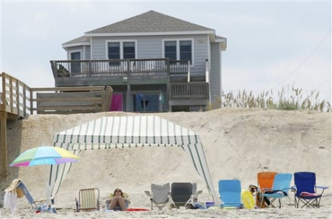 Image: Vacation rental on Nags Head beach, N.C.