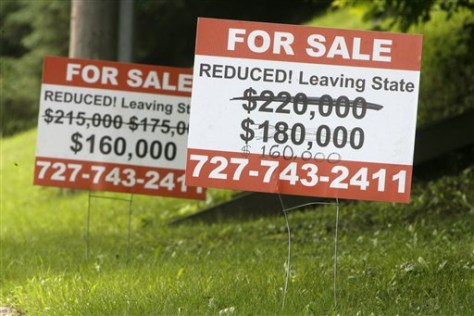 Image: House price reduced sign