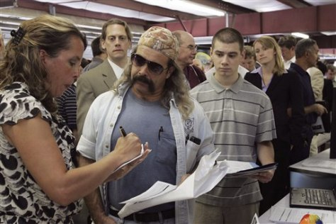 Image: Steve Costa at a job fair