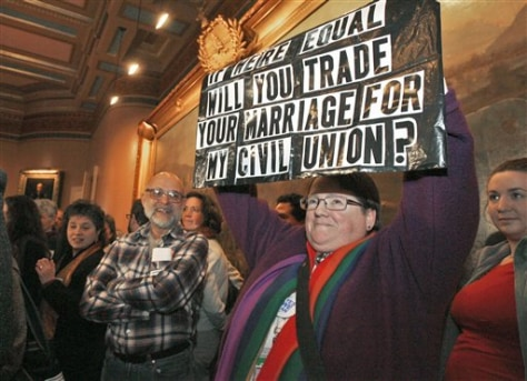 Image: Supporters gather for gay marriage rally
