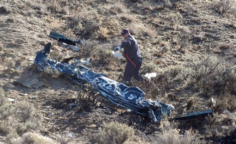 Image: Part of crashed helicopter
