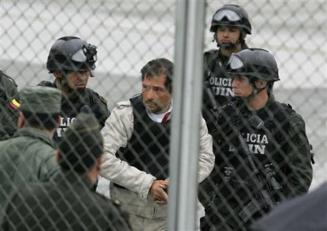 Image: Police escort Miguel Angel Mejia