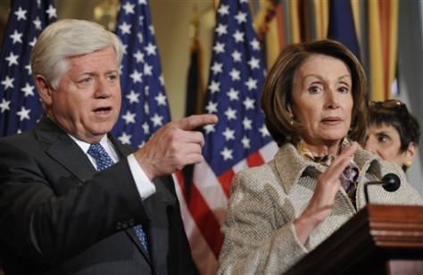 Image: Nancy Pelosi and Rep. John Larson