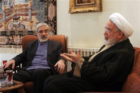 Image: Mahdi Karroubi, Mir Hossein Mousavi