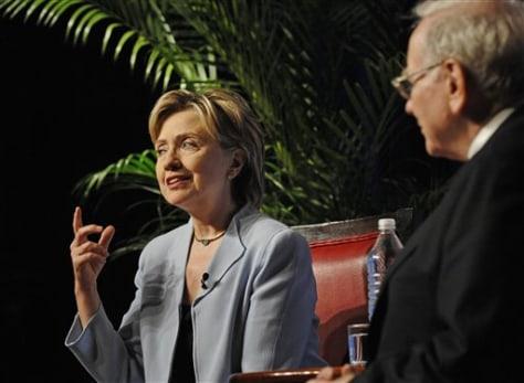 Sen. Hillary Rodham Clinton D-N.Y.