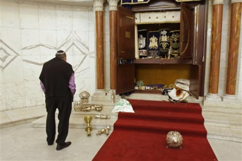 Image: vandalized synagogue