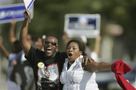 Image: Obama supporters celebrate