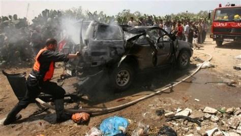 Image: Missile strike in Gaza