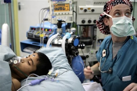 IMAGE: Iraqi boy undergoes surgery