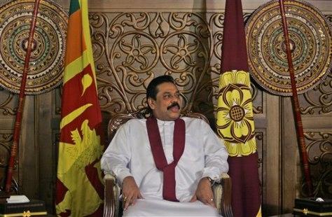 Image: Sri Lankan PresidentMahinda Rajapaksa
