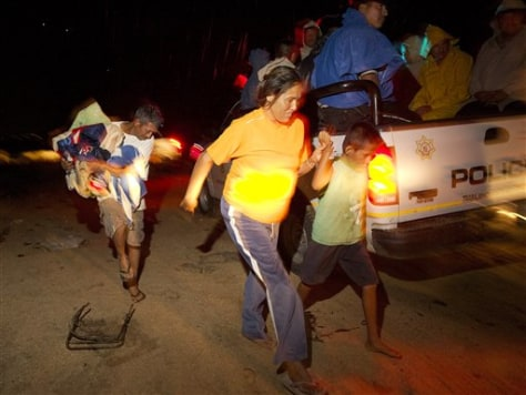 IMAGE: EVACUATED FAMILY