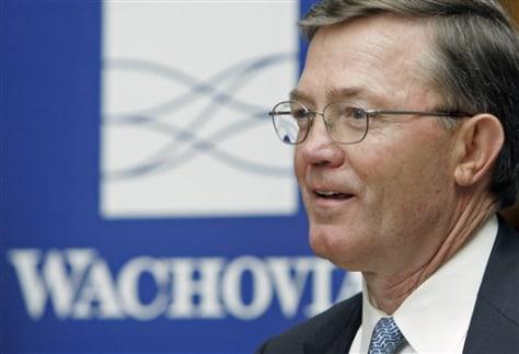 Wachovia CEO