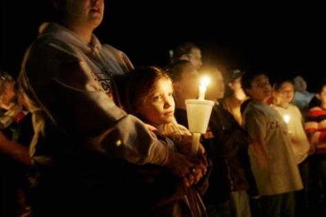 Image: Candlelight vigil