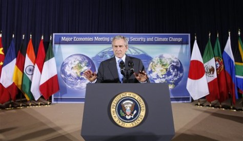 IMAGE: Bush at climate conference