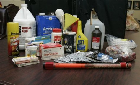 Image: Items used to manufacture methamphetamine