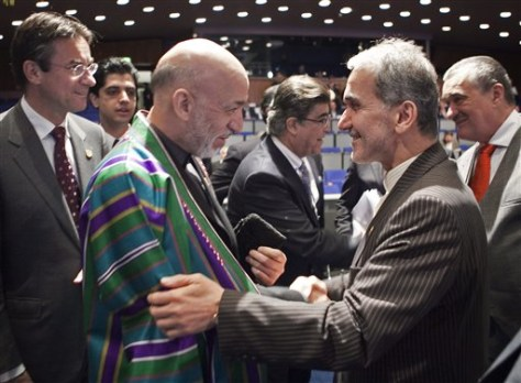 Image: Iranian minister with Afghan president