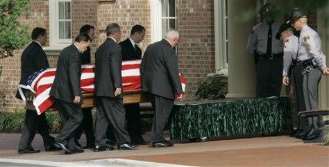 Image: Jesse Helms' casket