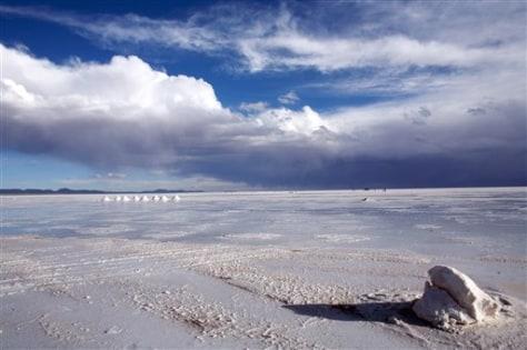 Image: Bolivia's lithium salt flats