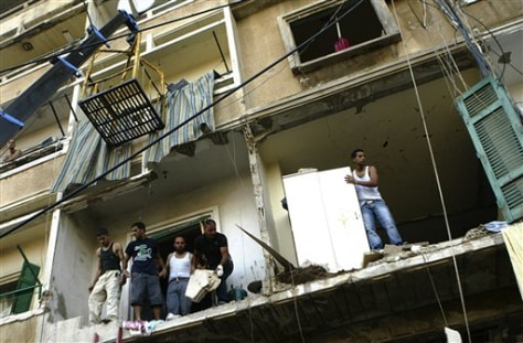 Image: Bombed Lebanese apartments