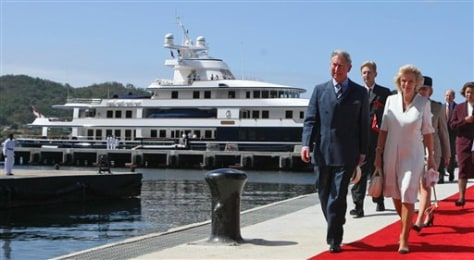 IMAGE: PRINCE CHARLES AND YACHT