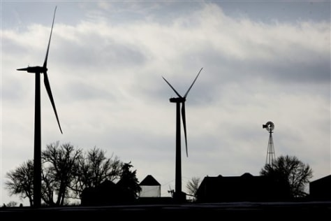 Image: Wind turbines on farm