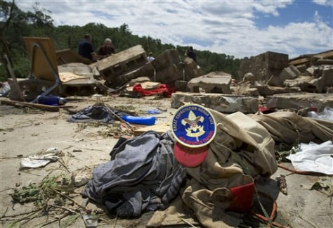Image: Debris at scout camp