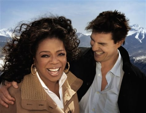 Image: Oprah Winfrey and Tom Cruise