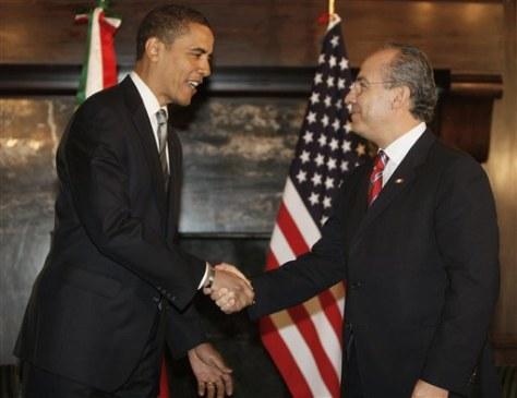 Image: President-elect Barack Obama and Mexico's President Felipe Calderon