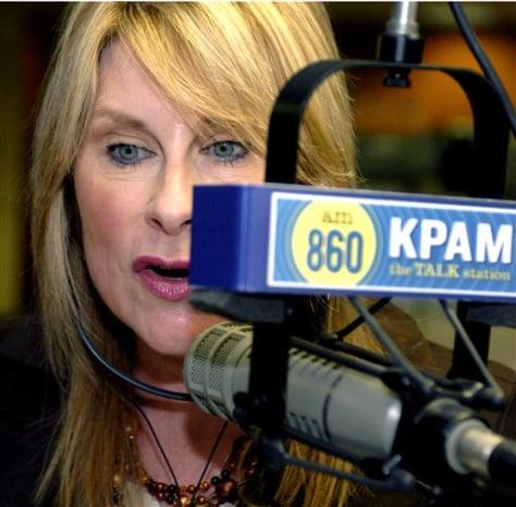 IMAGE: KPAM talk radio host Victoria Taft