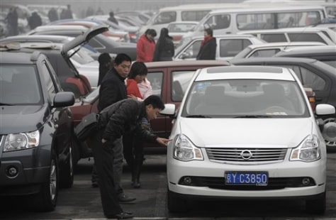 Image: Chinese car shoppers
