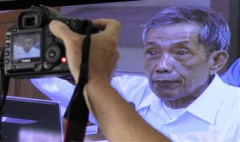 Image: Former Khmer Rouge prison chief Kaing Guek Eav