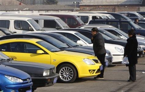 Image: Auto lot in China