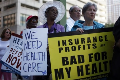 Image: Protest for health-care reform