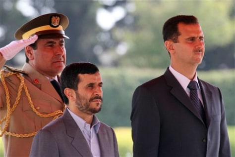 Image: Iranian, Syrian leaders