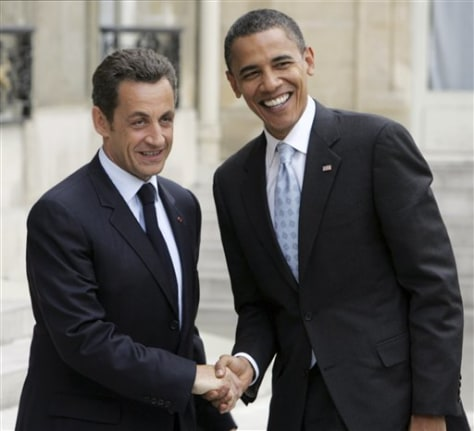 Image: Sarkozy and Obama