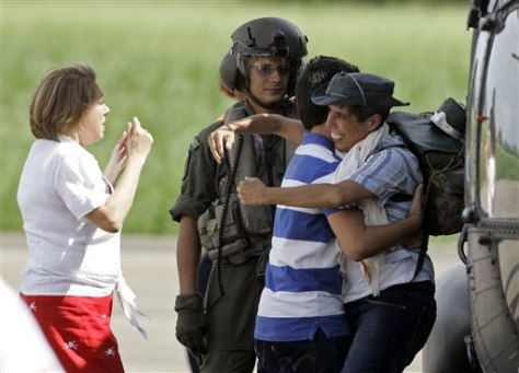 Image: Family greets ex-hostage